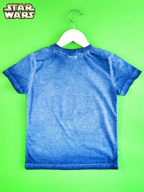 Niebieski t-shirt chłopięcy STAR WARS                                  zdj.                                  2