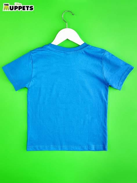 Niebieski t-shirt chłopięcy z nadrukiem MUPPETY                                  zdj.                                  2