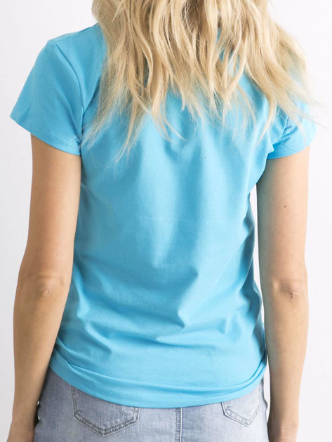 Niebieski t-shirt Peachy                              zdj.                              2