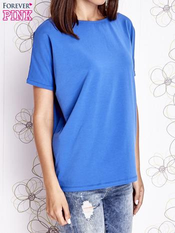 Niebieski t-shirt oversize                                  zdj.                                  4