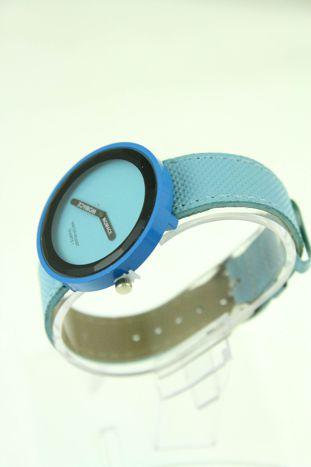 Niebieski zegarek damski na pasku                                  zdj.                                  2