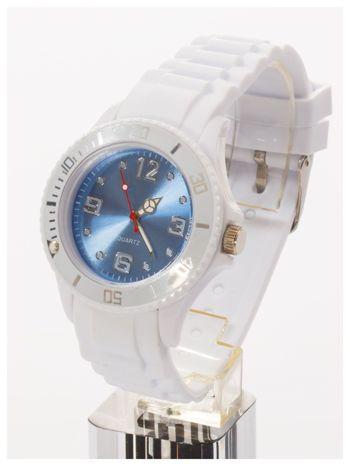 Niebieski zegarek damski na silikonowym pasku                                  zdj.                                  2