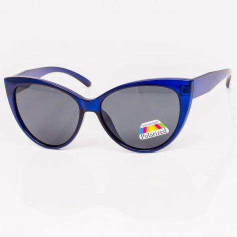 Niebieskie Damskie Okulary POLARYZACYJNE CAT EYE                              zdj.                              1