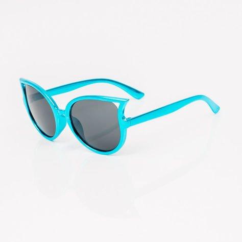 Niebieskie Dziecięce Okulary Słoneczne Z Metalicznym Połyskiem                              zdj.                              2