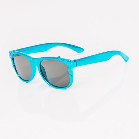 Niebieskie Dziecięce Okulary przeciwsłoneczne Z Metalicznym Połyskiem                              zdj.                              2