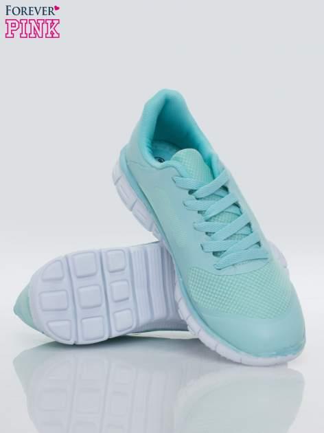 Niebieskie buty sportowe damskie z podeszwą z rowkami flex                                  zdj.                                  3