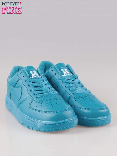 Niebieskie buty sportowe faux leather Your Move na grubej podeszwie                                  zdj.                                  2