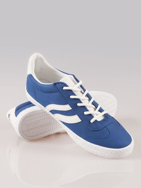 Niebieskie buty sportowe w stylu casual Kash                                  zdj.                                  4
