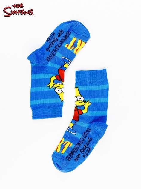 Niebieskie chłopięce skarpetki THE SIMPSONS