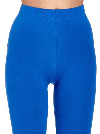Niebieskie gładkie legginsy damskie basic                                  zdj.                                  5