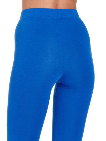 Niebieskie gładkie legginsy damskie basic                                  zdj.                                  7