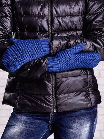 Niebieskie grube rękawiczki na jeden palec                                  zdj.                                  3