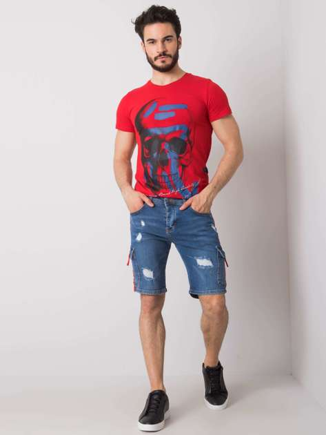 Niebieskie jeansowe spodenki męskie Paul