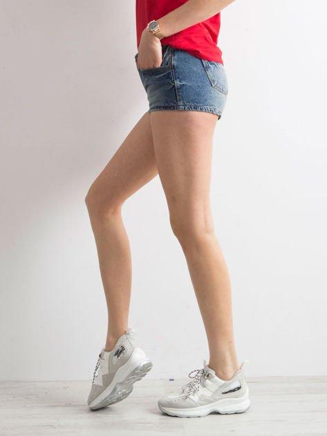 Niebieskie jeansowe szorty                              zdj.                              3