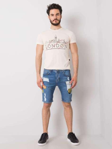 Niebieskie jeansowe szorty męskie Justin