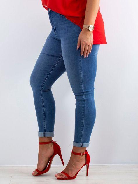 Niebieskie jeansy Feeling PLUS SIZE                              zdj.                              3