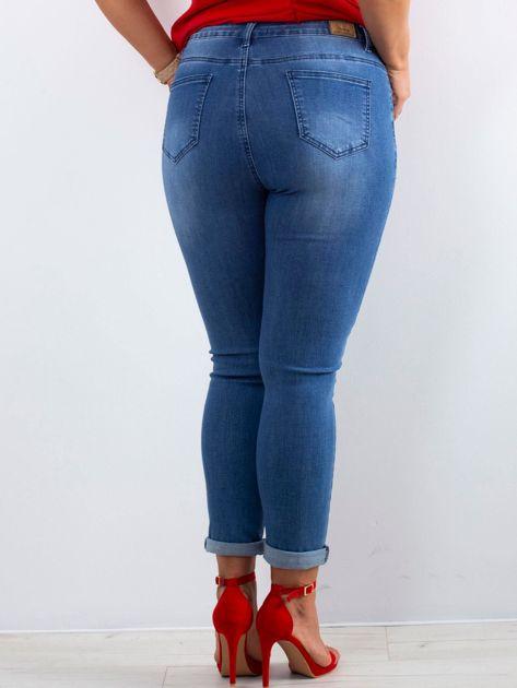 Niebieskie jeansy Feeling PLUS SIZE                              zdj.                              2