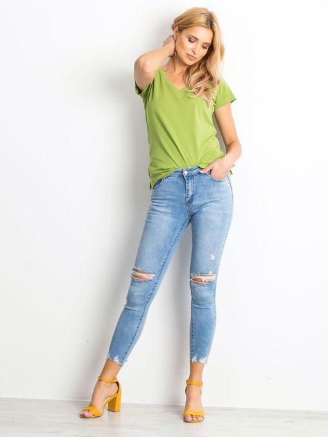 Niebieskie jeansy Withstand                              zdj.                              5