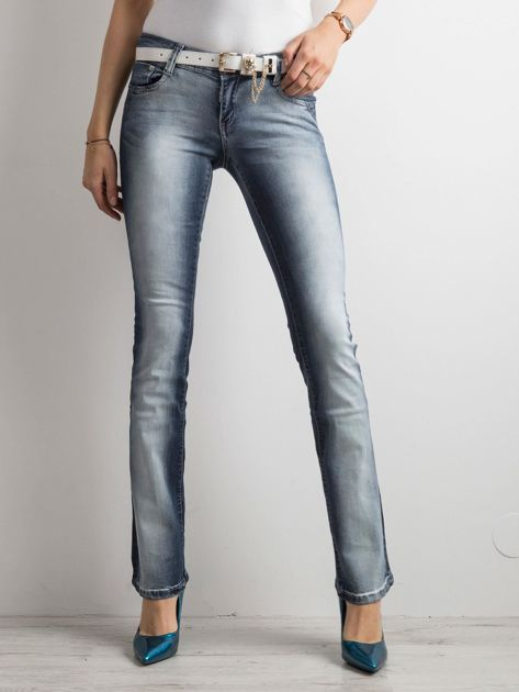 Niebieskie jeansy bootcut                              zdj.                              3