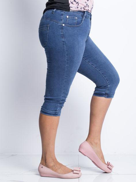 Niebieskie jeansy plus size Anchor                              zdj.                              3