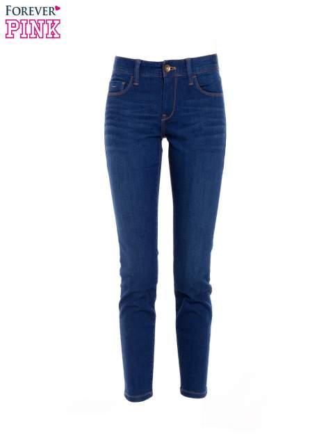 Niebieskie jeansy skinny ze średnim stanem                                  zdj.                                  2
