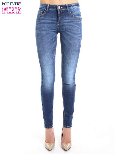 Niebieskie jeansy slim fit                                  zdj.                                  3