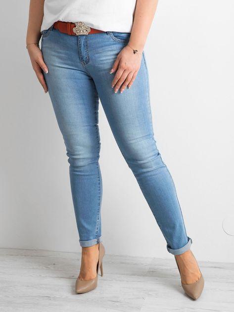Niebieskie jeansy slim fit PLUS SIZE