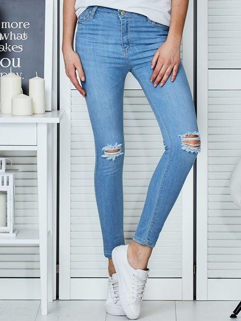 Niebieskie jeansy vintage o dopasowanym kroju                                  zdj.                                  1