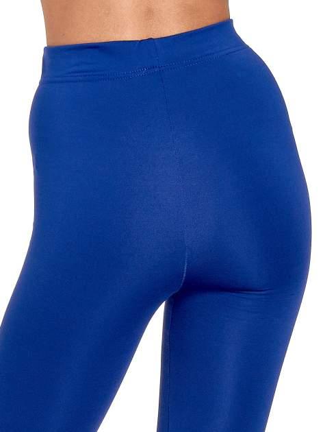 Niebieskie legginsy basic z lekkim ociepleniem                                  zdj.                                  7