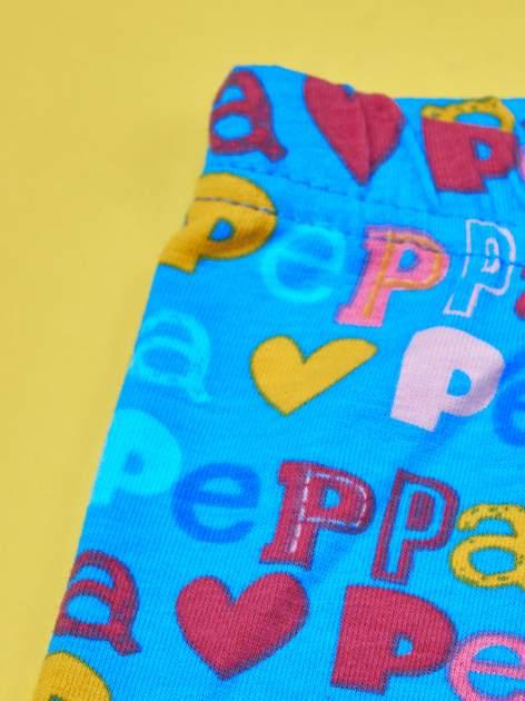 Niebieskie legginsy dla dziewczynki ŚWINKA PEPPA                                  zdj.                                  3
