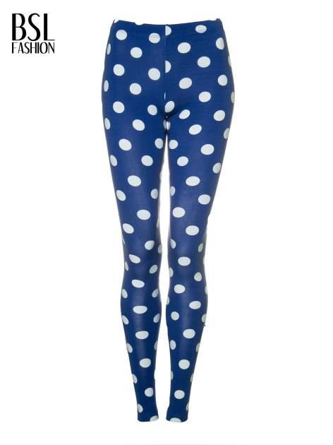 Niebieskie legginsy w grochy                                  zdj.                                  5