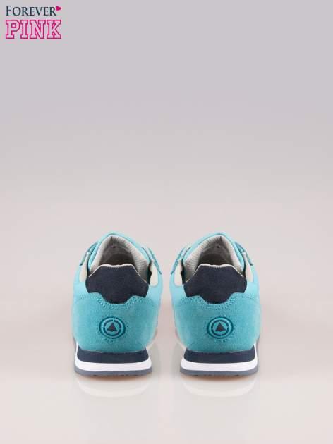 Niebieskie miejskie buty sportowe z zamszu                                  zdj.                                  3
