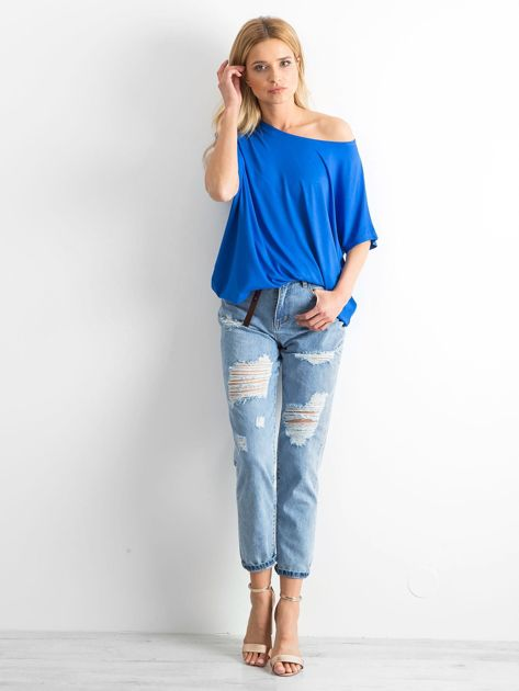 Niebieskie mom jeans Trashed                              zdj.                              4