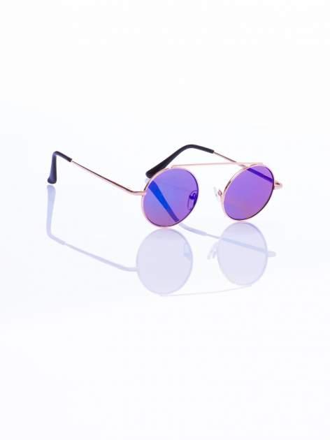 Niebieskie okulary przeciwsłoneczne LENONKI RETRO lustrzanka                                  zdj.                                  4