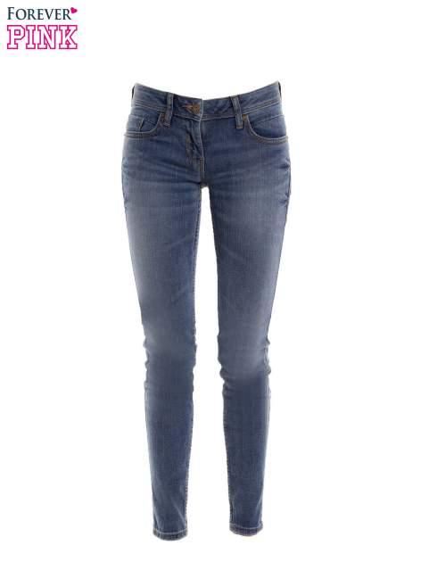 Niebieskie rurki skinny jeans                                  zdj.                                  2