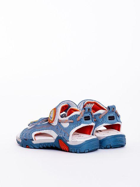 Niebieskie sandały dziecięce                              zdj.                              3