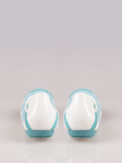 Niebieskie siateczkowe baleriny Whippie na gumkę                                  zdj.                                  3