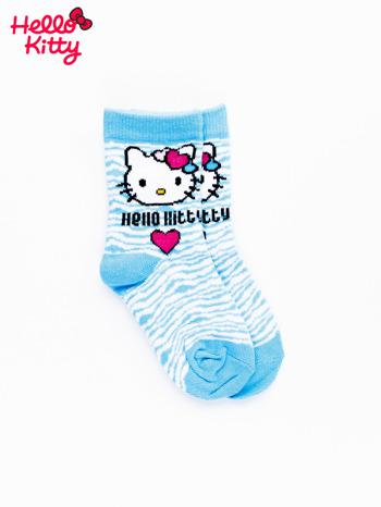 Niebieskie skarpetki dla dziewczynki HELLO KITTY                                  zdj.                                  1