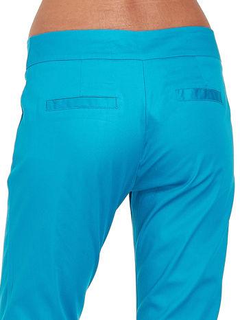 Niebieskie spodnie cygaretki w kant                                  zdj.                                  5