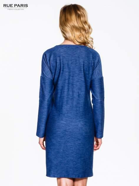 Niebieskie sukienka oversize z materiału a'la denim                                  zdj.                                  2