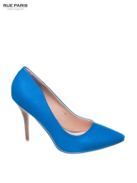 Niebieskie szpilki Alison ze smukłym noskiem                                  zdj.                                  1