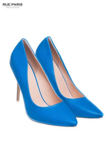 Niebieskie szpilki Alison ze smukłym noskiem                                  zdj.                                  2