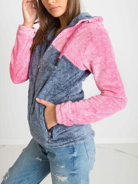 Niebiesko-różowa bluza Couture                              zdj.                              3