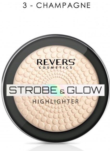 Nowość! REVERS Rozświetlacz STROBE & GLOW HIGHLIGHTER 03 CHAMPAGNE 8 g                              zdj.                              1