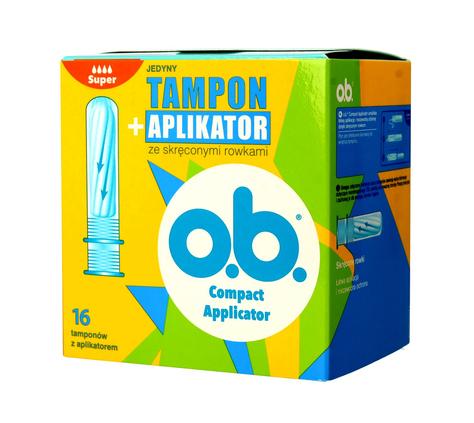 O.B.ProComfort Compact Applicator Super Tampony z aplikatorem 16 szt.