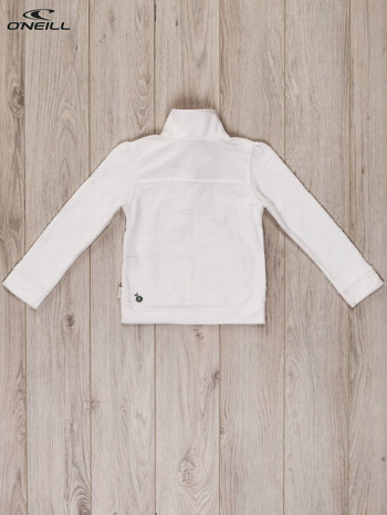 O'NEILL Biała bluza dla dziewczynki w tłoczony kwiatowy wzór