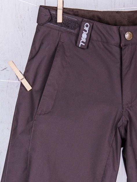 O'NEILL Brązowe spodnie narciarskie dla dziewczynki                              zdj.                              3