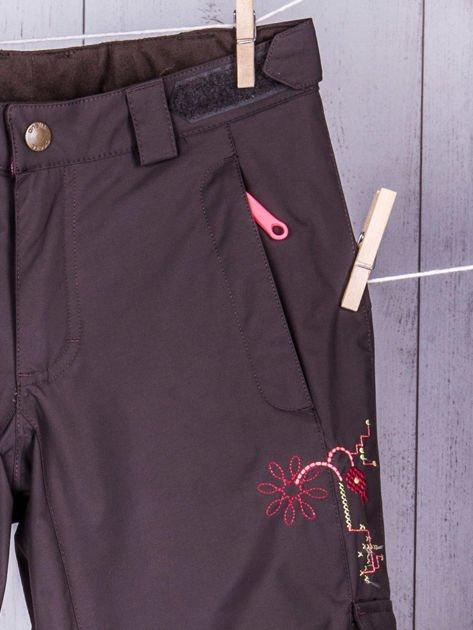 O'NEILL Brązowe spodnie narciarskie dla dziewczynki                              zdj.                              4