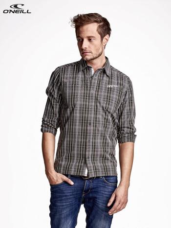 O'NEILL Ciemnozielona koszula męska w drobną kratkę