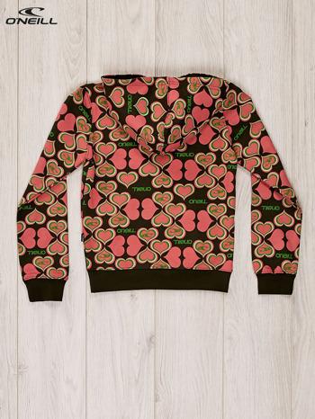 O'NEILL Khaki-koralowa bluza dla dziewczynki w serduszka                              zdj.                              5